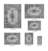 Vintage vloerkleed - Patchwork Donkergrijs