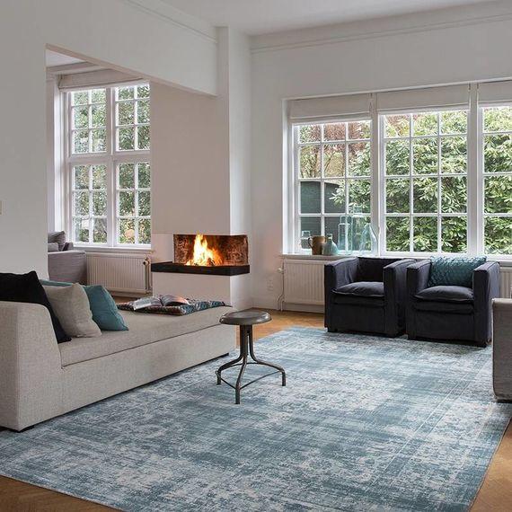 Lifa Living Vintage vloerkleed - Classic Lichtblauw
