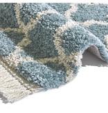 Mint Rugs Hoogpolig vloerkleed Desire - Pearl Blauw/Creme