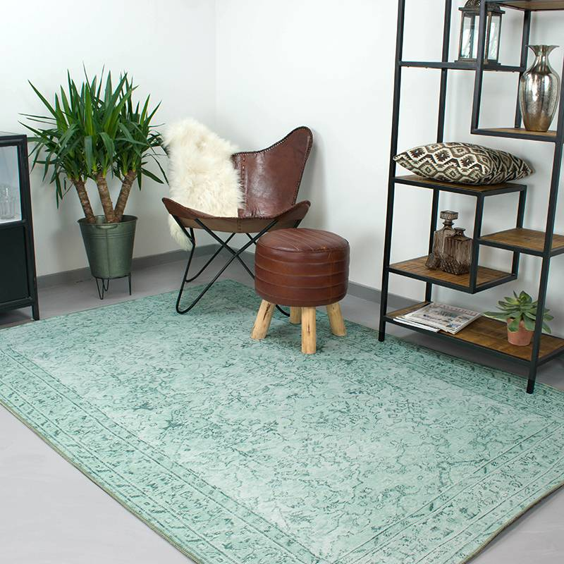 Afbeelding van Perzisch Tapijt Moods Mintgroen No.05 190x290 cm Brinker carpets