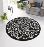 Zala living Vloerkleed Bastille - Ornament zwart/wit