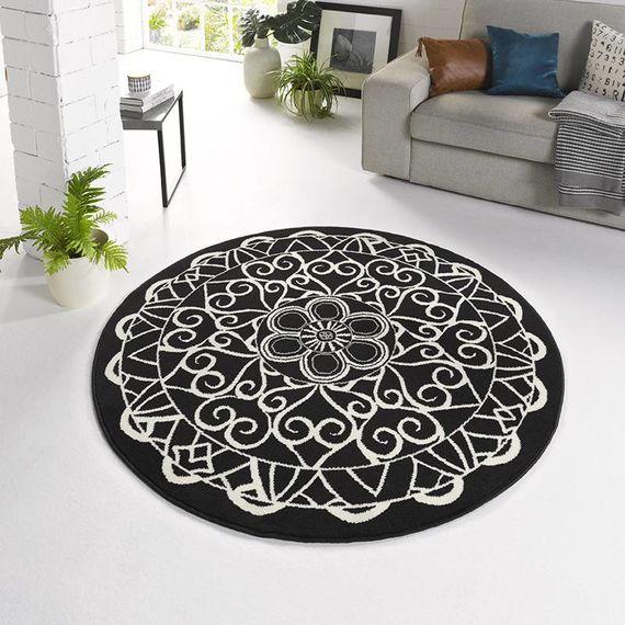 Zala living Klassiek vloerkleed - Bastille Ornament zwart/wit