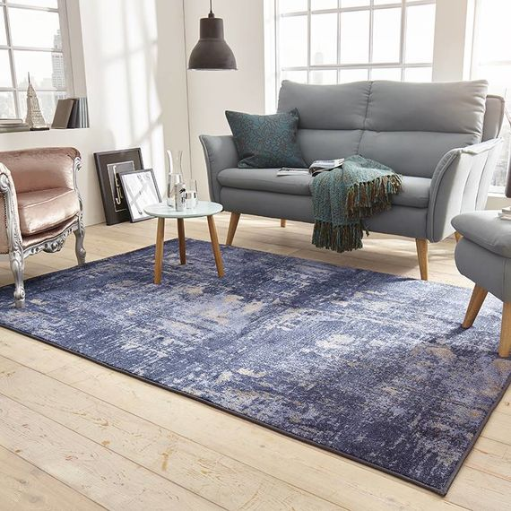 Mint Rugs Vintage vloerkleed - Golden Gate blauw