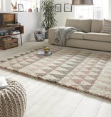 Mint Rugs Hoogpolig vloerkleed Allure - Triangel creme/roze