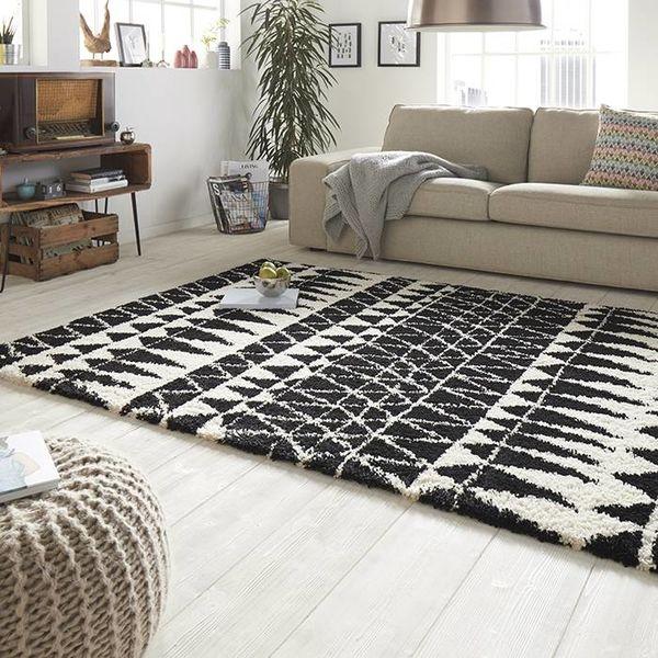 Hoogpolig vloerkleed Allure - Inspire zwart