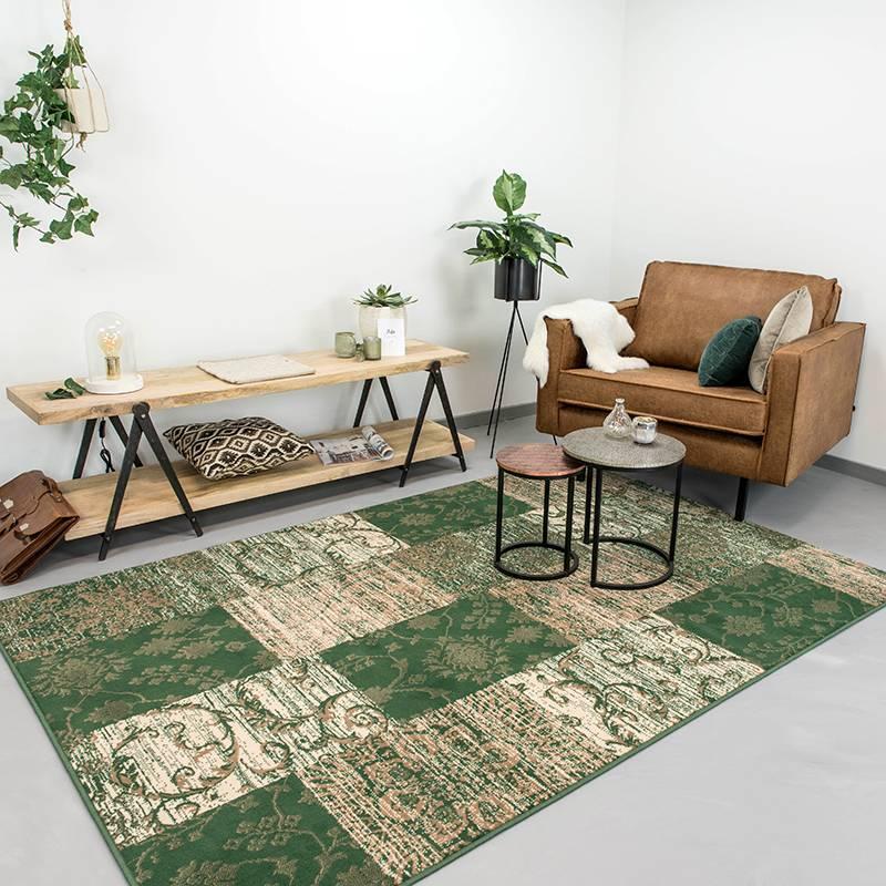 Patchwork vloerkleed - Famous Groen 270x370cm