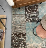 FRAAI Patchwork vloerkleed - Famous Blauw