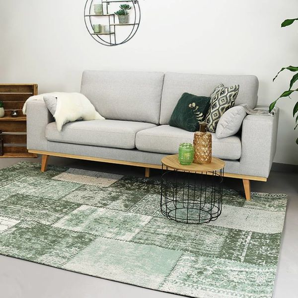 Patchwork vloerkleed - Dreams Groen