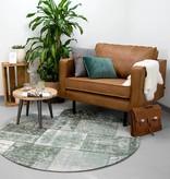 FRAAI Rond patchwork vloerkleed - Dreams Groen