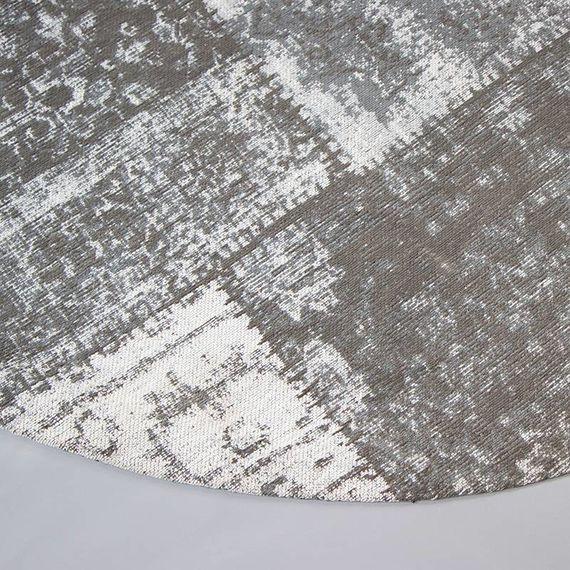 FRAAI Rond patchwork vloerkleed - Dreams Grijs