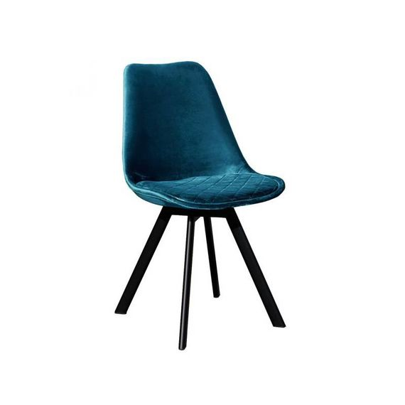 Kick Collectie Stoel velvet - Soof blauw