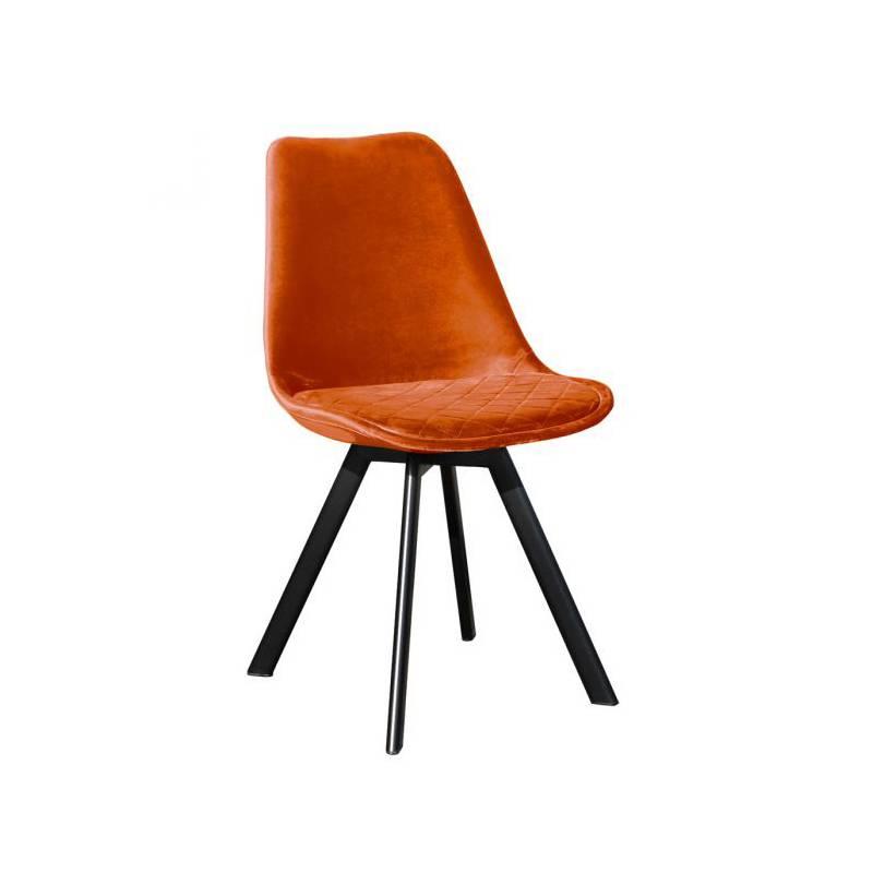 Stoel velvet - Soof oranje