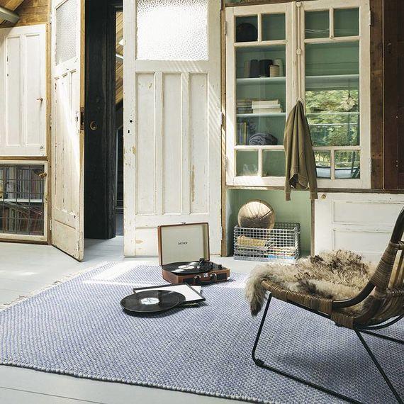 Brink & Campman Vloerkleed Atelier - Craft 49508 Blauw