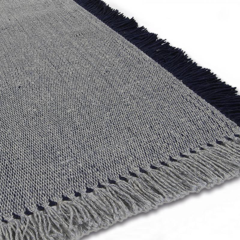 Wollen vloerkleed - Barrax Blauw 240x340cm