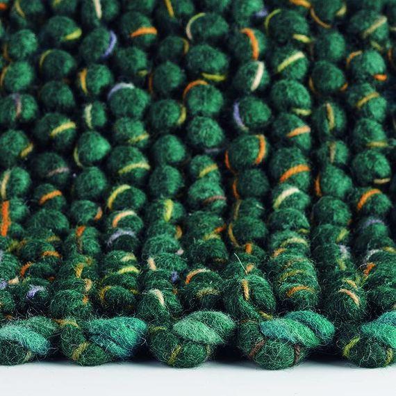 Brink & Campman Wollen vloerkleed - Cobble Groen 29207