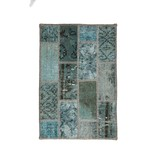 Brinker carpets Patchwork vloerkleed - Vintage Light blue