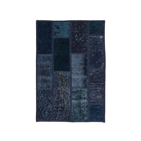 Patchwork vloerkleed - Vintage Dark blue