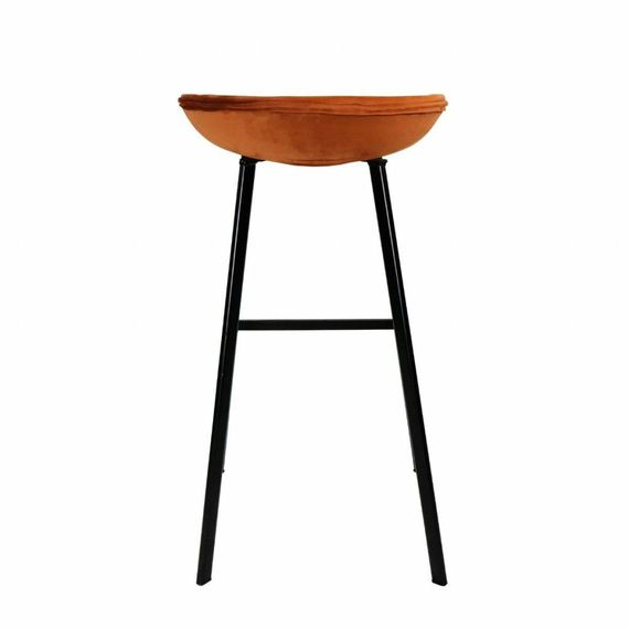Kick Collection Velvet barkruk - Oranje