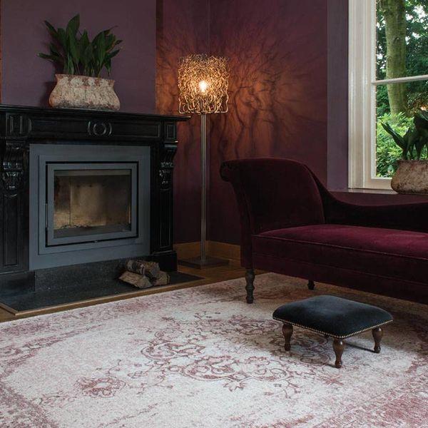 Brinker carpets Vintage Vloerkleed - Meda Roze
