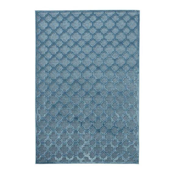 Mint Rugs Viscose Vloerkleed - Shine Byron Blauw
