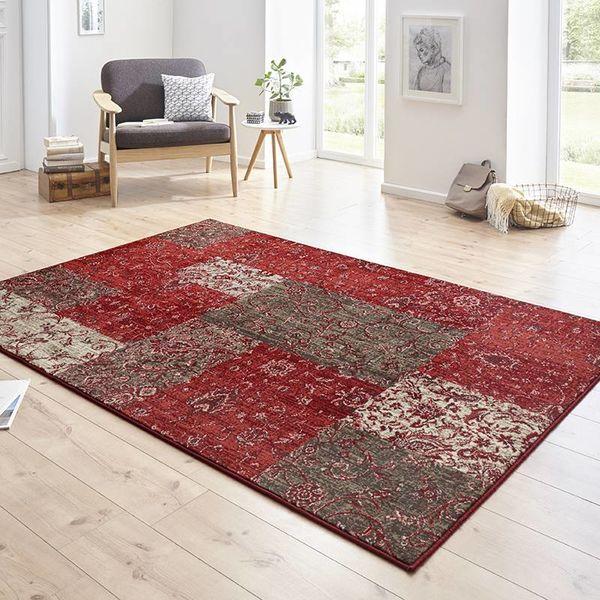 Patchwork vloerkleed - Susa kirie rood