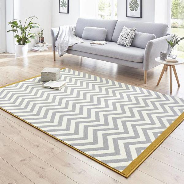 Modern Vloerkleed - Susa meridian grijs/goud