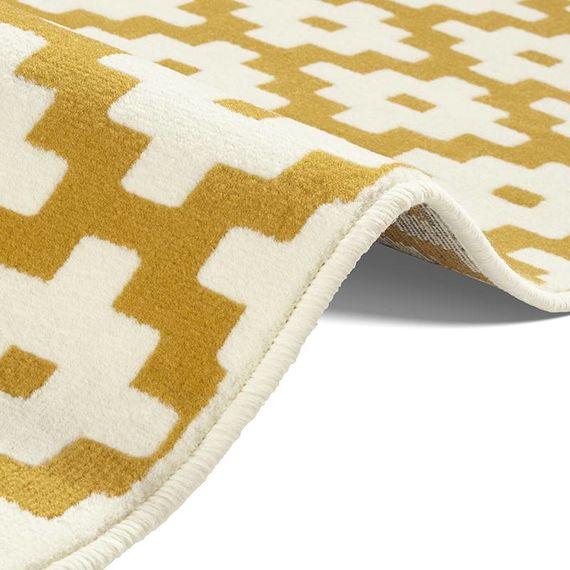 Modern Vloerkleed - Susa lattice goud/creme