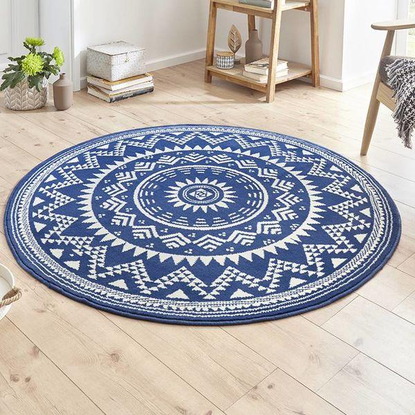 Rond vloerkleed - Susa valencia blauw
