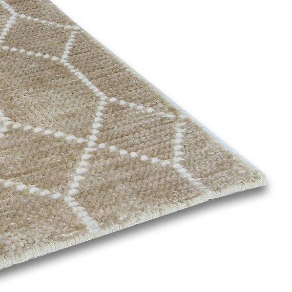 Brinker carpets Bamboe zijde Vloerkleed - Laatz Champagne