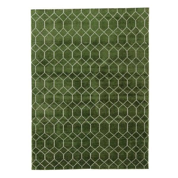 Bamboe zijde Vloerkleed - Laatz Army green
