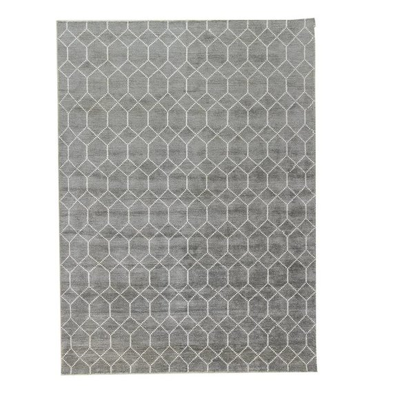 Brinker carpets Bamboe zijde Vloerkleed - Laatz Grey