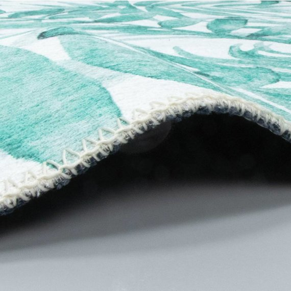 FRAAI Rond vloerkleed - Palmier Leaves Green