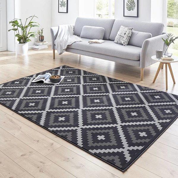 Modern Vloerkleed - Susa Snug grijs/zwart