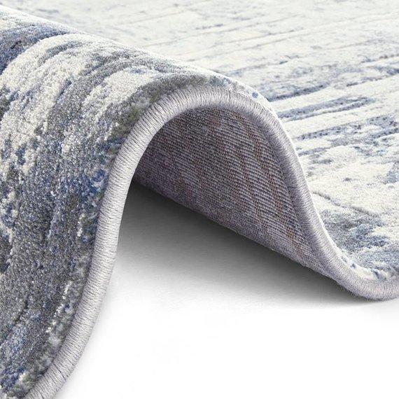 ELLE DECORATION Modern Vloerkleed - Arty Blauw/Grijs Brush