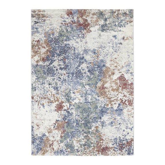 ELLE DECORATION Modern Vloerkleed - Arty Blauw/Groen Splash