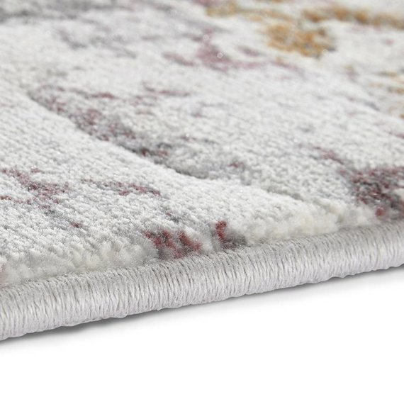 ELLE Decor Modern Vloerkleed - Arty Grijs/Rood Splash