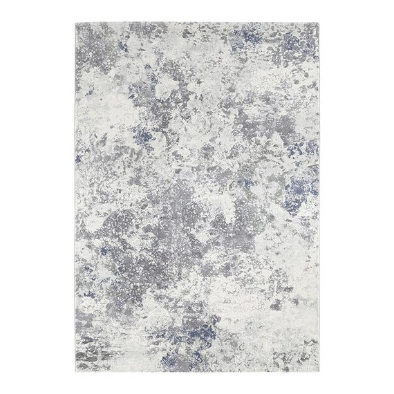ELLE DECORATION Modern Vloerkleed - Arty Grijs/Blauw Splash