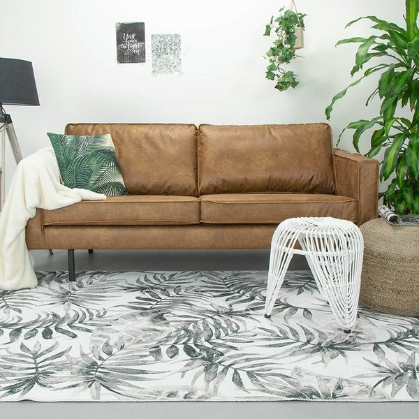 Botanical vloerkleed - Palmier Leaves Grey
