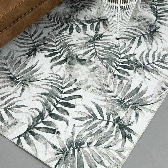 FRAAI Botanical vloerkleed - Palmier Leaves Grey