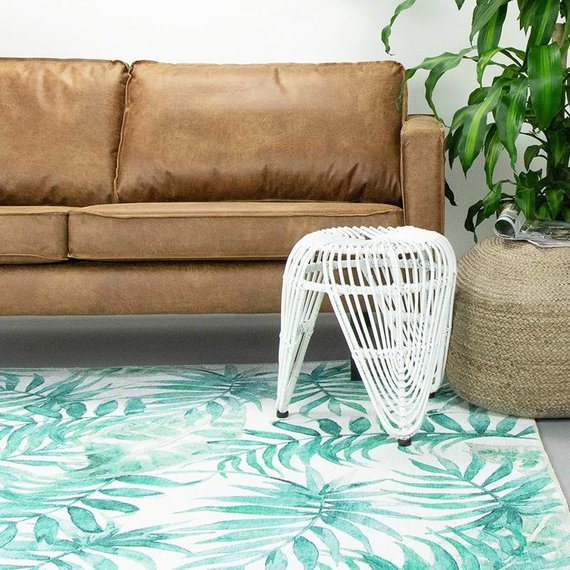 FRAAI Botanical vloerkleed - Palmier Leaves Green