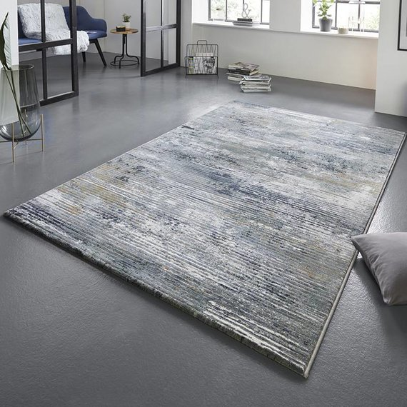 ELLE Decor Modern Vloerkleed - Arty Blauw/Green Wash