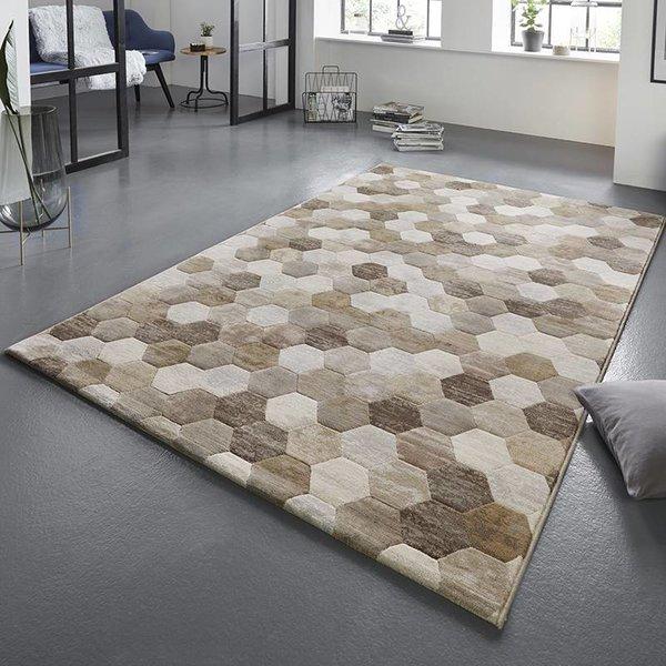 Modern Vloerkleed - Arty Beige/Bruin Camouflage