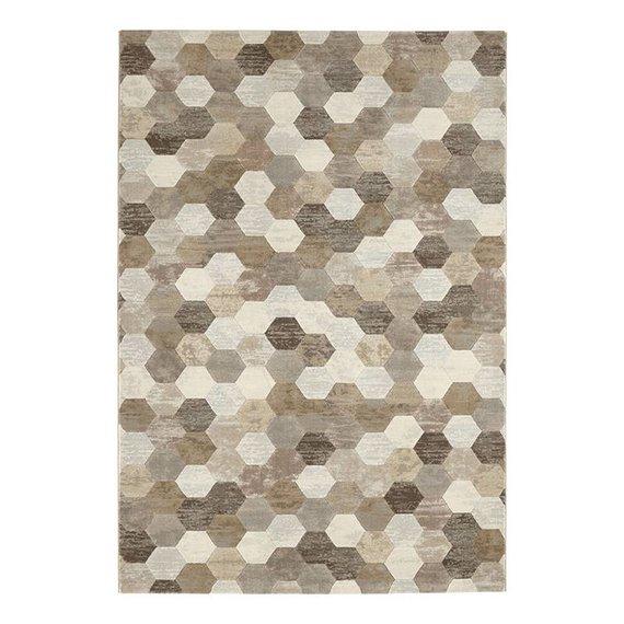 ELLE DECORATION Modern Vloerkleed - Arty Beige/Bruin Camouflage
