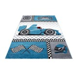 Adana Carpets Kindervloerkleed - Mila Auto Blauw