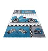 MoMo Carpets Kindervloerkleed - Auto Blauw