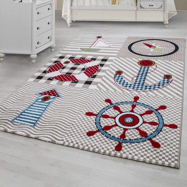 MoMo Carpets Kindervloerkleed - Marine Beige