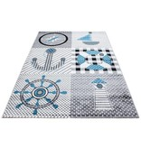 Adana Carpets Kindervloerkleed - Mila Marine Grijs/Blauw