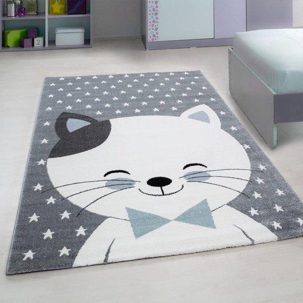MoMo Carpets Kindervloerkleed - Blauwe Kat