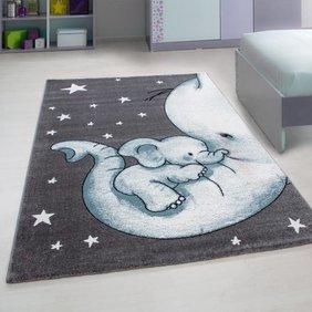Adana Carpets Kindervloerkleed - Anna Olifant Blauw