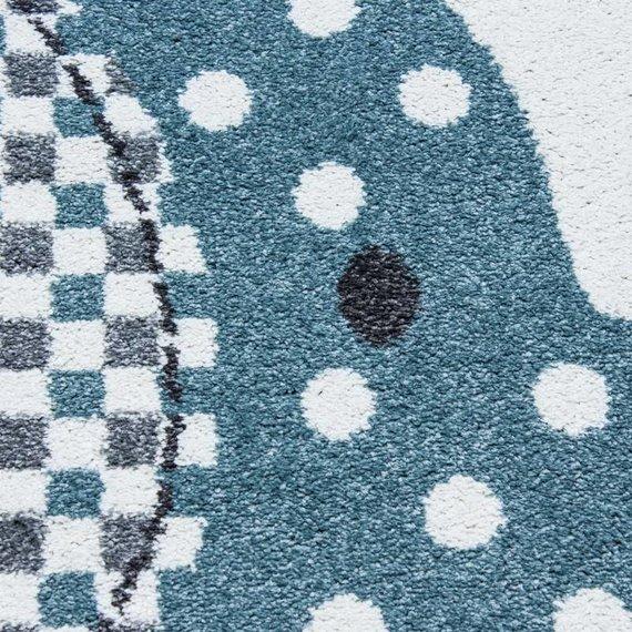 Adana Carpets Kindervloerkleed - Ann Olifant Paraplu Blauw